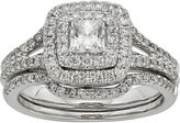 JCPenney MODERN BRIDE 1 CT. T.W. Certified Diamond 14K White Gold Bridal Ring Set
