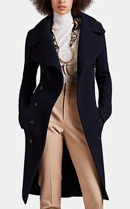 Chloé Women's Wool-Cashmere Double-Breasted Coat - Navy