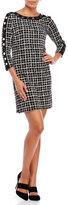 Rafaella Petite Graphic Grid Dress
