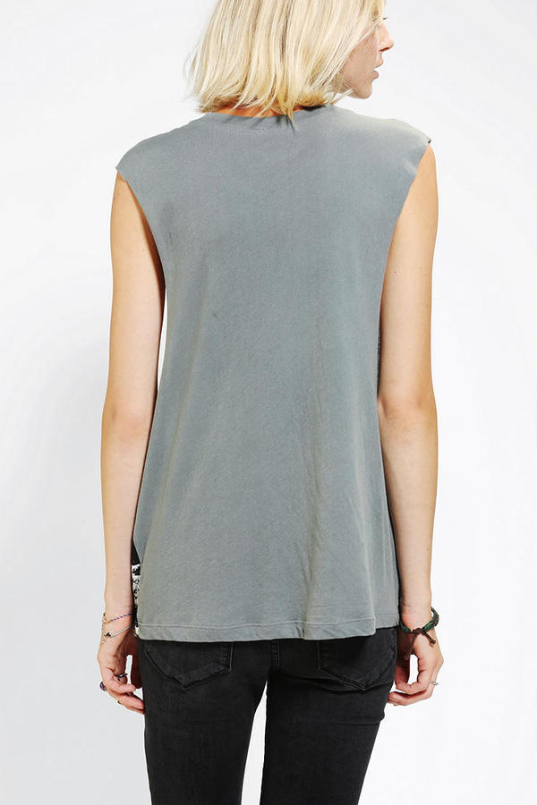 Urban Outfitters Dirty Hollywood Cosmic Mountain Cat Muscle Tee