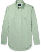 Drake's - Slim-fit Slub Cotton Oxford Shirt