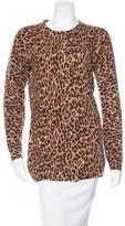Dolce & Gabbana Leopard Cashmere Cardigan