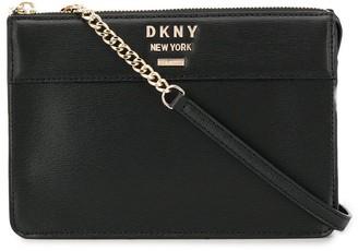 DKNY logo plaque shoulder bag