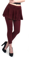 Magid Maroon Flare Skirt Leggings - Plus Too