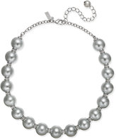 Kate Spade Silver-Tone Large Imitation Pearl and Pavé Collar Necklace
