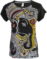 Yoga Tees - Omtimistic women's Hindu God Ganesh Om Symbol T-Shirt