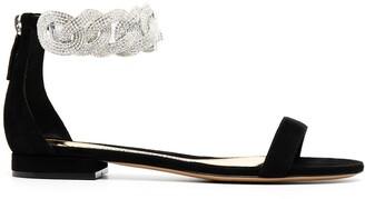 Alexandre Vauthier Crystal-Embellished Sandals