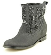 Joe's Jeans Mirage Women Round Toe Canvas Black Ankle Boot.