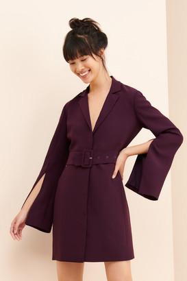 AU x Nuuly V-Neck Blazer Dress