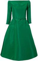 Oscar de la Renta belted A-line dress