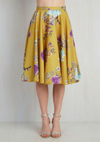 ModCloth Ikebana for All Skirt in Floral in 3X
