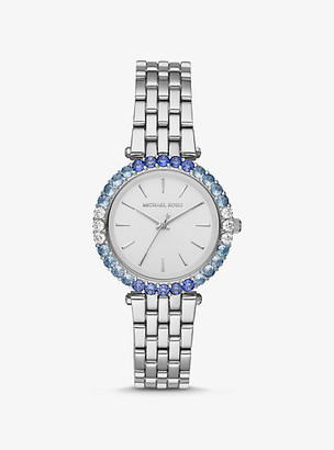 Michael Kors Darci Ombre Pave Silver-Tone Watch - Silver