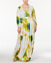 Melissa McCarthy Trendy Plus Size Peasant Maxi Dress