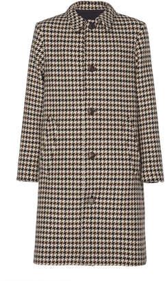 Ami Manteau Checked Cotton-Blend Coat