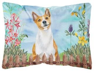 Schiff Winston Porter Basenji Spring Indoor/Outdoor Throw Pillow Winston Porter