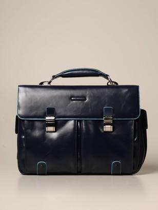 Piquadro Square Satchel Bag In Calfskin