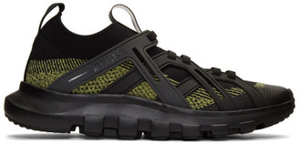 Ermenegildo Zegna Black and Yellow TechMerino Sneakers
