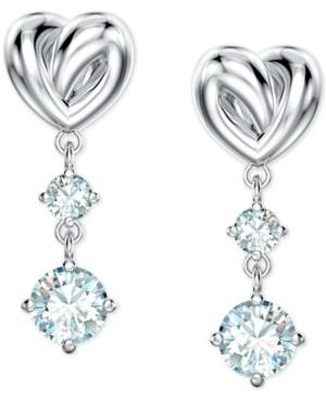 Swarovski Heart Knot & Crystal Drop Earrings