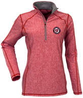 Antigua Women's Washington Nationals Tempo Quarter-Zip Pullover
