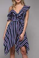 Do & Be Stripe Ruffle Dress