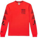 Nike Acg Nrg Logo-Print Waffle-Knit Sweatshirt