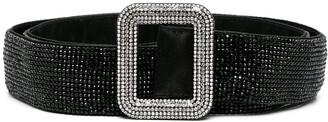 Benedetta Bruzziches Crystal-Embellished Buckle Belt