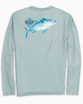 Southern Tide Long Sleeve Tuna Performance T-Shirt