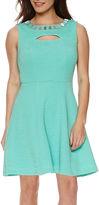 Studio 1 Sleeveless Embellished Fit-and-Flare Dress - Petite