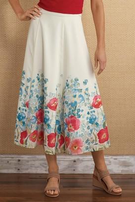 Soft Surroundings Petites Floretta Border Skirt
