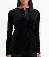 Lauren Ralph Lauren Long Sleeve Velvet Henley Tunic