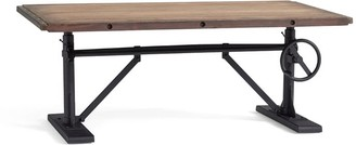 "Pottery Barn Pittsburgh 48"" Crank Coffee Table"