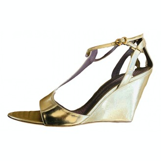 Anya Hindmarch Gold Leather Sandals