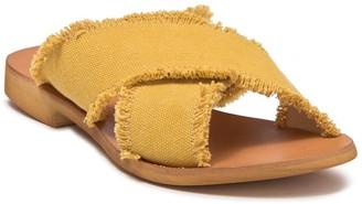 Cocobelle Crisscross Fringe Sandal