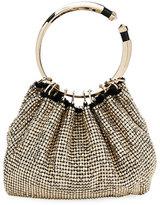 Valentino Bebop Ring Loop-Handle Clutch Bag, Gray