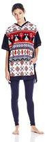 Kensie Women's Microfleece Poncho Pajama