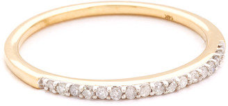 Adina 14k Pave Band Ring