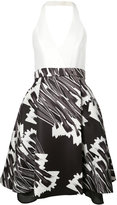 Halston flared halter-neck dress - women - Polyester - 2