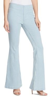 Ella Moss Striped Flare-Leg Jeans