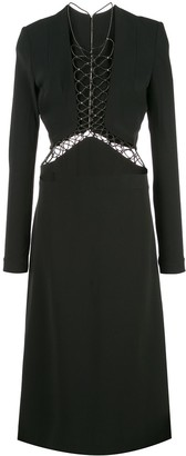 Dion Lee Lace Up Detail Dress