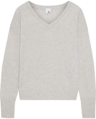 Iris & Ink Sage Melange Cashmere Sweater