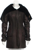 Gucci Leather Shearling Coat