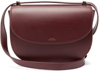 A.P.C. Geneve Smooth-leather Cross-body Bag - Burgundy