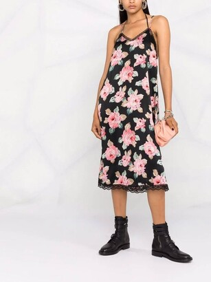 R 13 Floral Midi Slip Dress