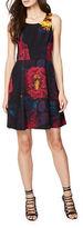 Rachel Roy Scoopneck Floral-Print Dress