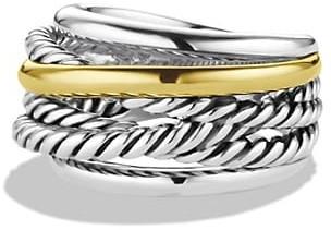 David Yurman Crossover Narrow Ring with Gold