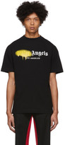 Palm Angels Black Los Angeles Sprayed T-Shirt