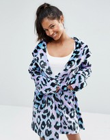 Asos Super Soft Robe in Leopard