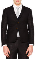 Thom Browne Faded-Stripe Two-Button Wool Sport Coat, Navy