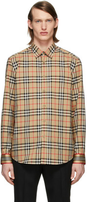 Burberry Beige Vintage Check Shirt