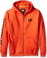 Caterpillar Men's Big and Tall Full Zip Hooded Sweatshirt